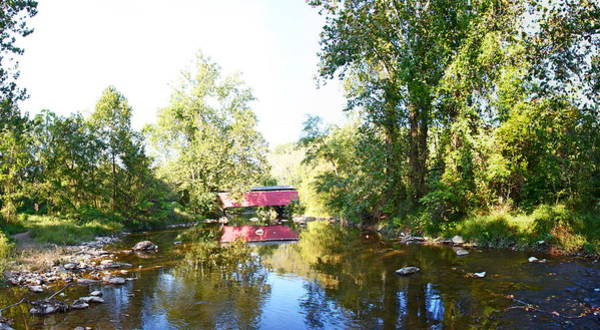 Fairhill Photograph - Red Covered Bridge by Alice Gipson