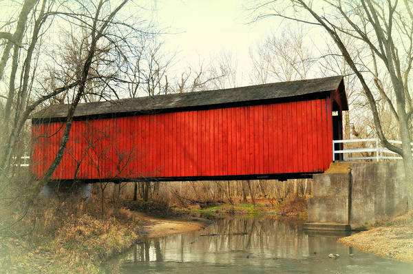 Photograph - Red Covered Bridge by Marty Koch