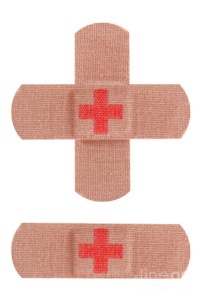 Sick Photograph - Red Cross Bandages by Blink Images