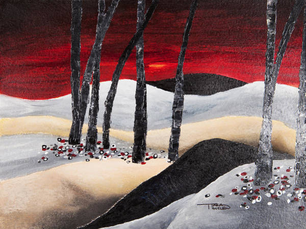 Tara Painting - Red Dawn by Tara Thelen
