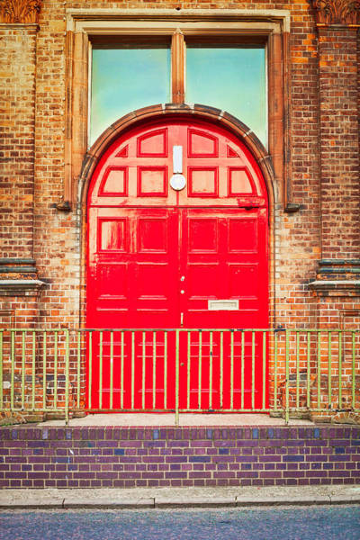 Door Photograph - Red Door by Tom Gowanlock