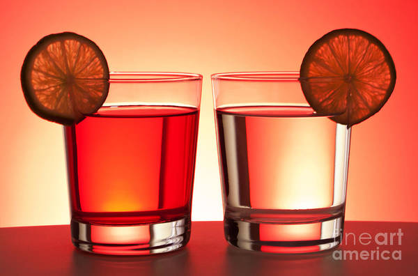 Cocktail Lounge Photograph - Red Drinks by Blink Images