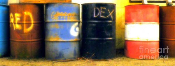 Wall Art - Photograph - Red Dye Blue Dye Black Dye We Die by Joe Pratt
