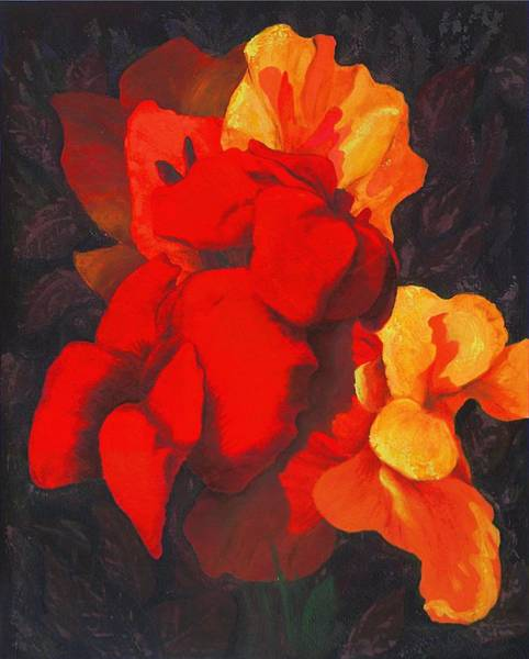 Painting - Red Flowers by G Linsenmayer
