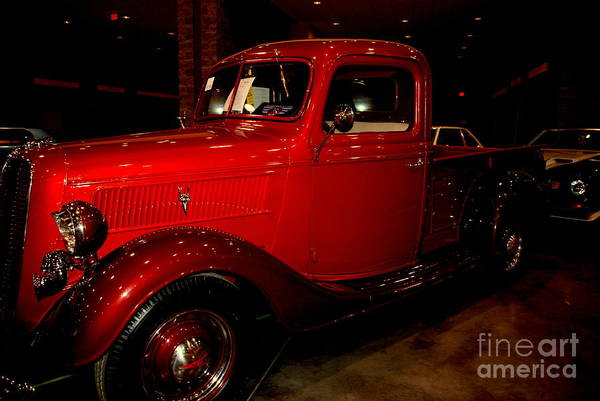 Wall Art - Photograph - Red Ford Truck by Susanne Van Hulst