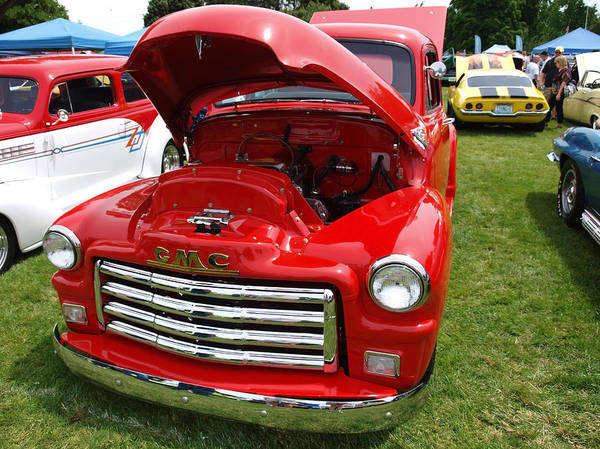Rogue Valley Photograph - Red Gmc by Teri Schuster