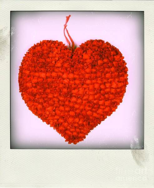 Fissure Photograph - Red Heart by Bernard Jaubert