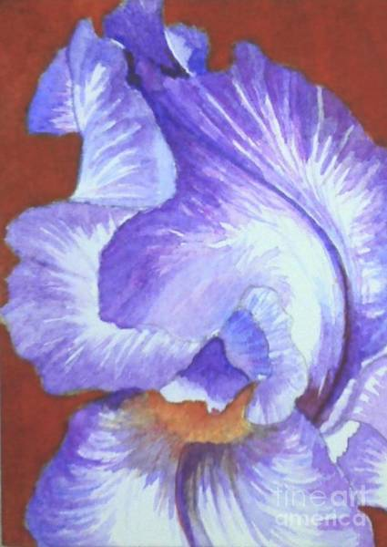 Wall Art - Painting - Red Hot Iris by Lisa Bell