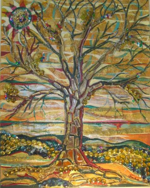 Red Oak Waiting Art Print
