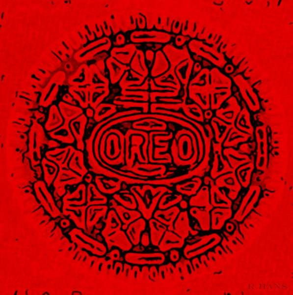 Nabisco Photograph - Red Oreo by Rob Hans