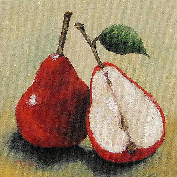Wall Art - Painting - Red Pears by Torrie Smiley