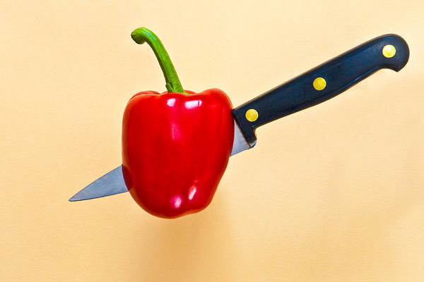 Bell Peppers Photograph - Red Pepper by Tom Gowanlock