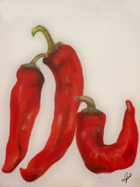 Painting - Red Peppers by Joni McPherson