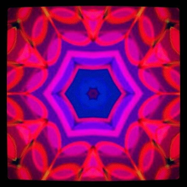 Fractal Wall Art - Photograph - #red #purple And #blue #meditating by Pixie Copley