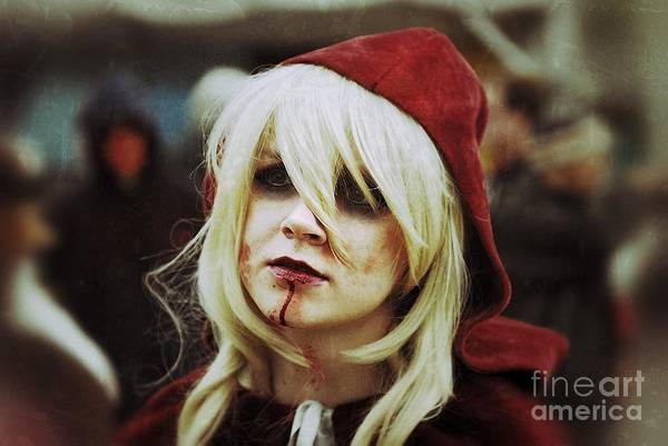 The Undead Photograph - Red Riding Hood Zombie  by Andrea Kollo
