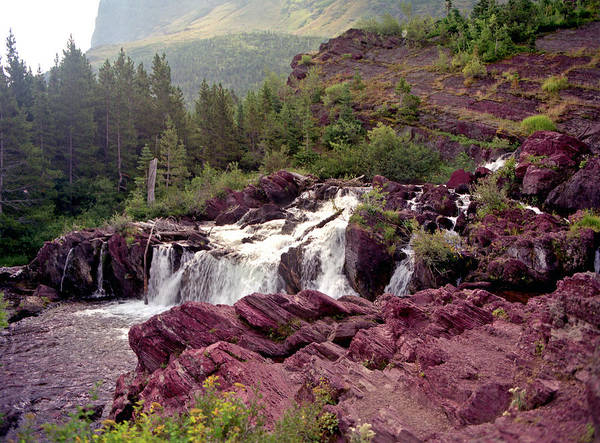 Photograph - Red Rock Falls by Lee Santa