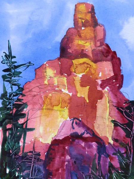 Elwood Blues Painting - Red Rocks by Jann Elwood