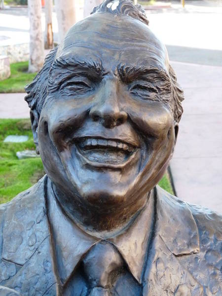 Photograph - Red Skelton Bust by Jeff Lowe