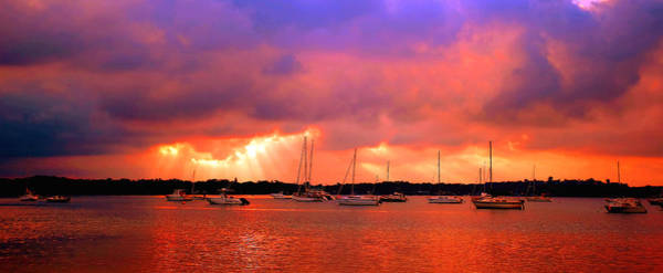 Red Sky At Night - Sailors Delight Art Print