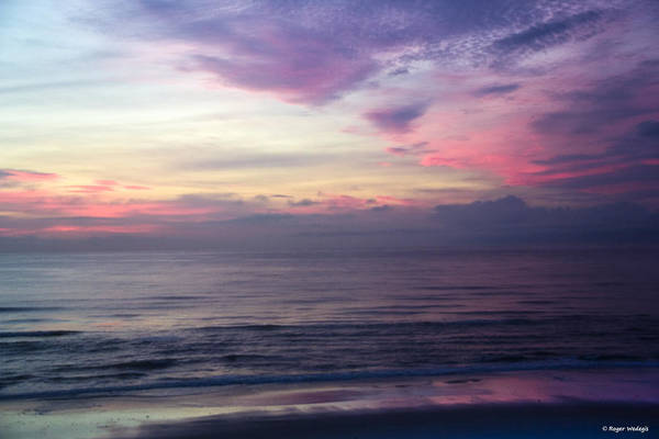 Ormond Beach Photograph - Red Sky In The Morning by Roger Wedegis
