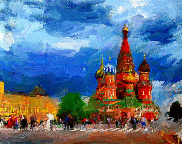 Town Square Digital Art - Red Square Moscow by Yury Malkov