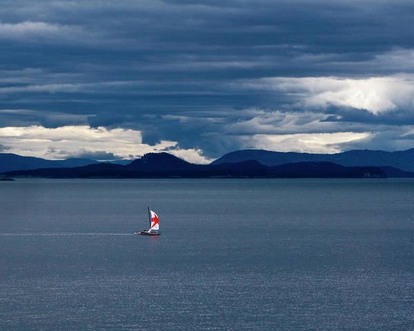 Photograph - Red Star Sail by Lorraine Devon Wilke