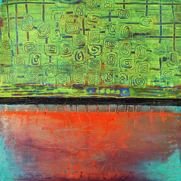 Wall Art - Painting - Red Sunset by Lolita Bronzini