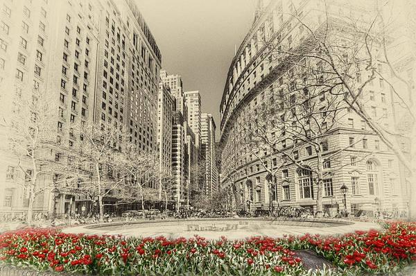 Midtown Manhattan Digital Art - Red Tulips by Svetlana Sewell