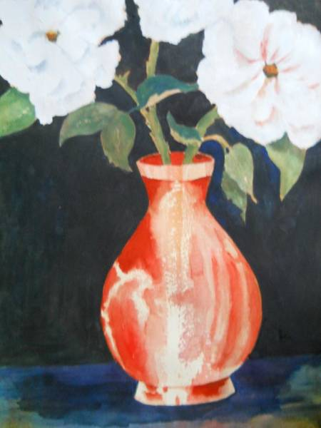 Painting - Red Vase by Audrey Bunchkowski