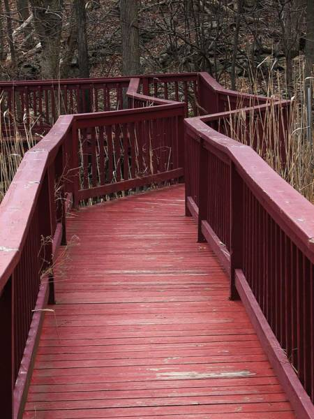 Wall Art - Photograph - Red Walkway by Casey Roche