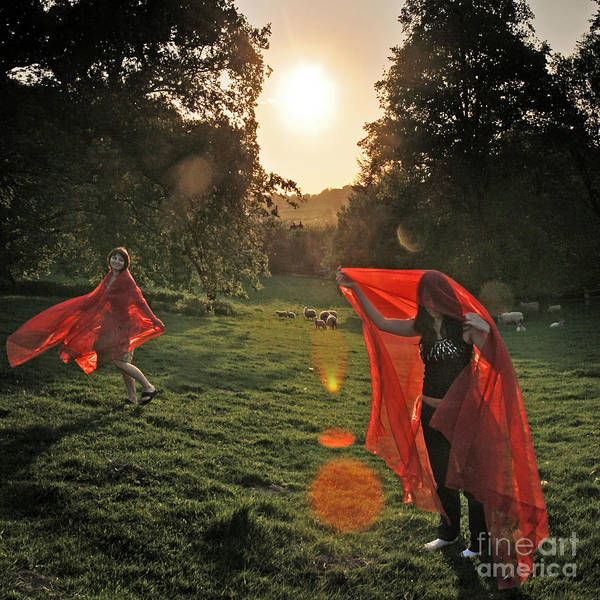 Wall Art - Photograph - Red Witches Dance by Angel Ciesniarska