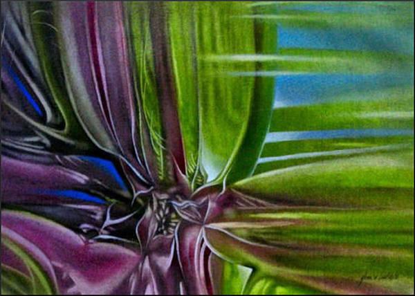 Painting - Redflowercomp 2008 by Glenn Bautista