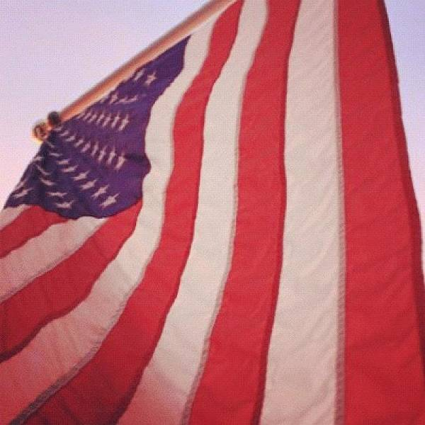 Military Photograph - #redwhiteandblue #badass #usa #flag by E  Marrero
