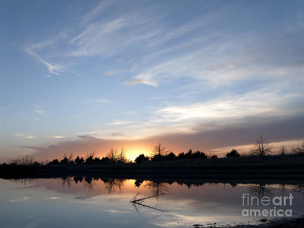 Photograph - Reflected Sunset by Art Whitton