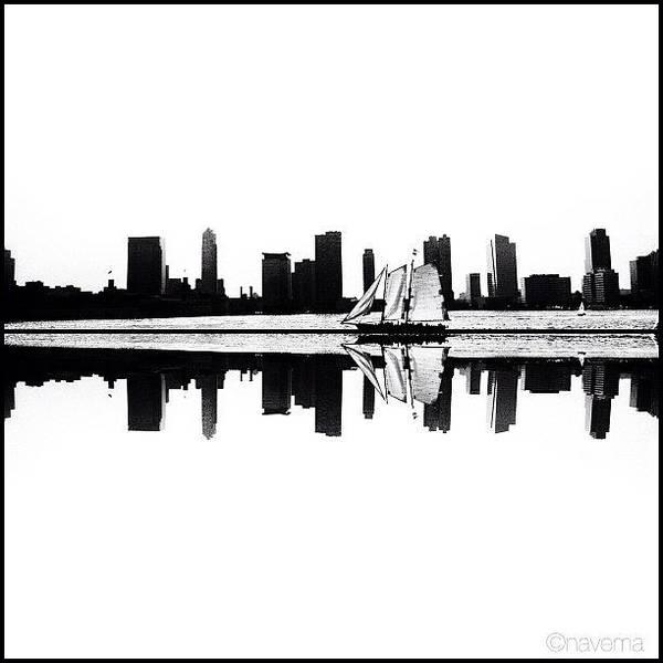 Monochrome Photograph - Reflection by Natasha Marco