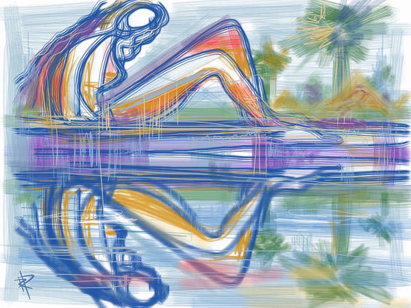Palm Tree Mixed Media - Reflection by Russell Pierce