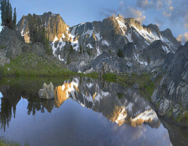 Sierra Nevada Mountain Range Photograph - Reflections In Wasco Lake Twenty Lakes by Tim Fitzharris