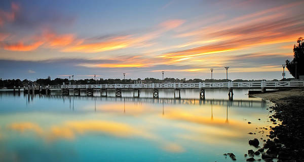 Photograph - Reflections Of A Jetty by Mark Lucey