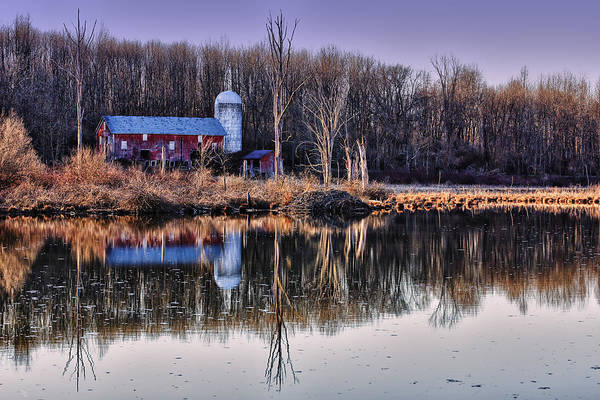 Photograph - Reflections Of The Old Barn by Rick Berk