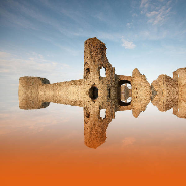 Roman Fort Photograph - Reflections Of The Past by Sharon Lisa Clarke