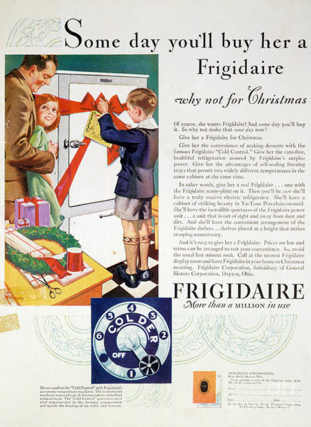 Wall Art - Photograph - Refrigerator Ad, 1929 by Granger