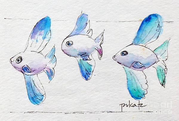 Painting - Regatta Fish by Pat Katz