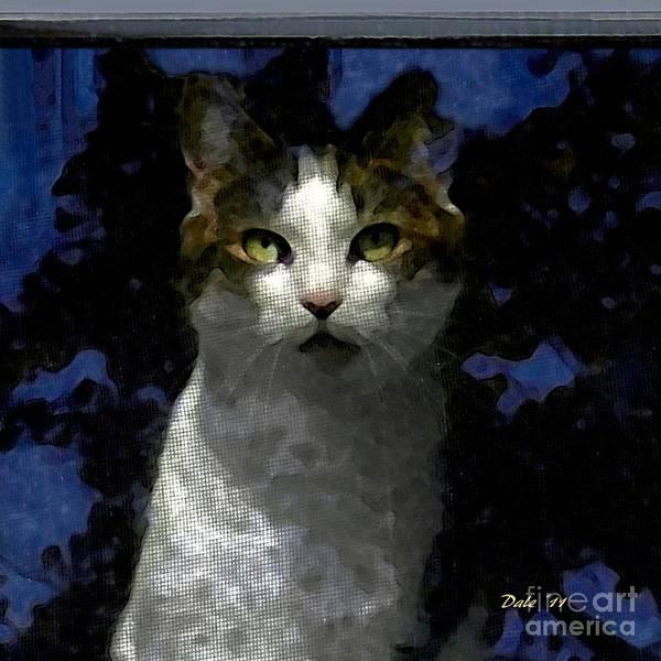 Digital Art - Reggie In Window 2 by Dale   Ford