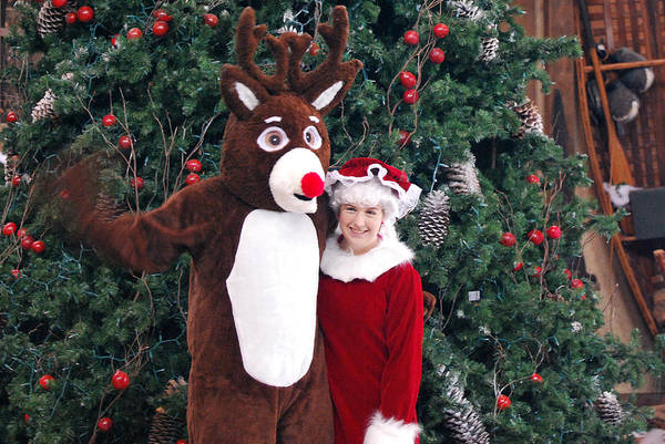Photograph - Reindeer And Mrs Claus by Teresa Blanton