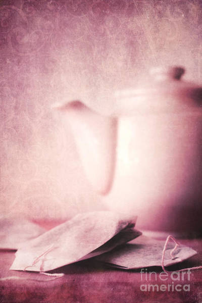 Monochrome Digital Art - Relaxing Tea by Priska Wettstein