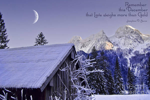 Weihnachten Photograph - Remember This December by Sabine Jacobs
