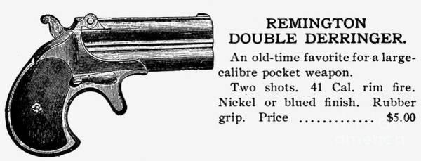 Wall Art - Photograph - Remington Double Derringer by Granger