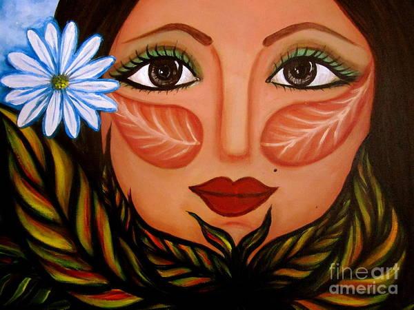 Selfportrait Painting - Renaciendo II by Laura  Gomez