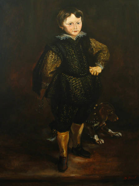 Painting - Replica Of Sir Anthony Van Dyck's Filippo Cattaneo by Tigran Ghulyan