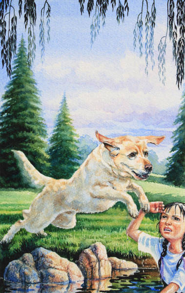 Service Dog Painting - Rescue Dog by Hanne Lore Koehler